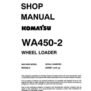Komatsu WA450-2 Wheel Loader Service Manual