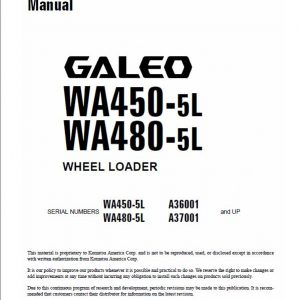 Komatsu WA450-5L, WA480-5L Wheel Loader Service Manual