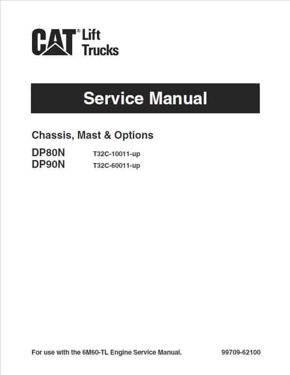 CAT DP80N, DP90N Forklift Lift Truck Service Manual