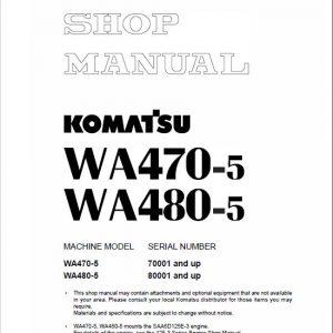 Komatsu WA470-5, WA480-5, WA470-5H, WA480-5H Service Manual