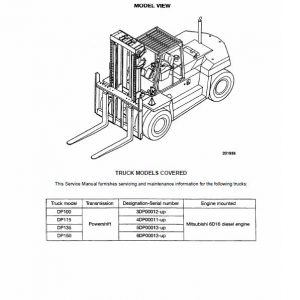 CAT DP100, DP115, DP135, DP150 Forklift Lift Truck Service Manual