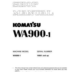 Komatsu WA900-1 Wheel Loader Service Manual