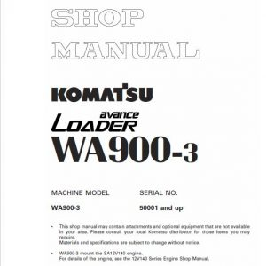 Komatsu WA900-3, WA900-3E0 Wheel Loader Service Manual
