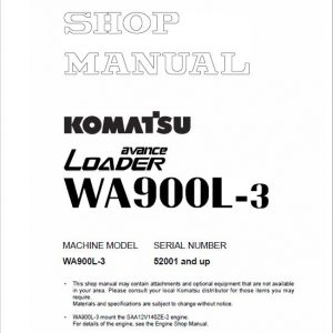 Komatsu WA900L-3 Wheel Loader Service Manual