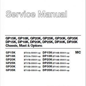CAT DP15K, DP18K, DP20K, DP25K, DP30K, DP35K Forklift Service Manual