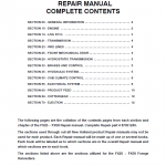 New Holland FX25, FX45, FX28, FX38, FX48, FX58, FX300, FX375, FX450 Harvesters Manual