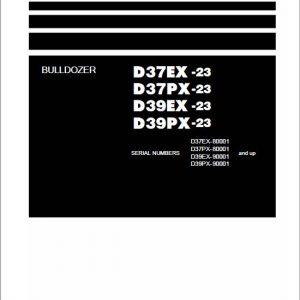 Komatsu D37EX-23, D37PX-23, D39EX-23, D39PX-23 Dozer Service Manual