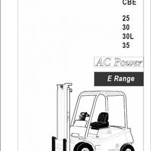 BT CBE 2.5, CBE 3.0, CBE 3.0L, CBE 3.5 E Range Forklift Service Manual