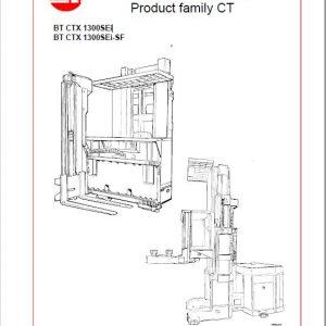 BT CTX 1300SEi, CTX 1300SEi-SF Forklift Truck Service Manual
