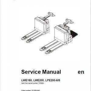 BT LWE180, LWE200, LPE200-6, LPE200-8 Pallet Truck Service Manual