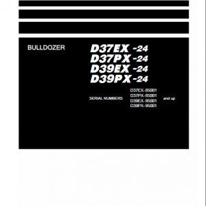 Komatsu D37EX-24, D37PX-24, D39EX-24, D39PX-24 Dozer Service Manual