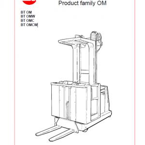 BT OM, OMW, OMC, OMCW Pallet Truck Service Manual