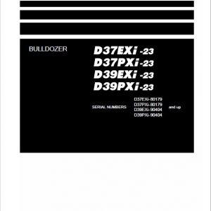 Komatsu D37EXi-23, D37PXi-23, D39EXi-23, D39PXi-23 Dozer Service Manual