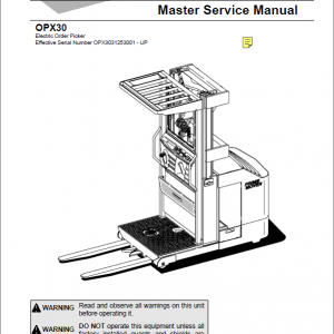 BT Prime Mover OPX30 Order Picker Repair Service Manual