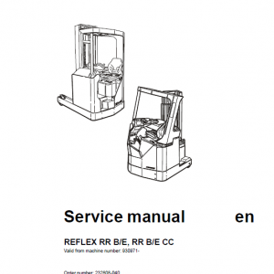 BT Reflex RR BE, RR BE CC Reach Trucks Service Manual