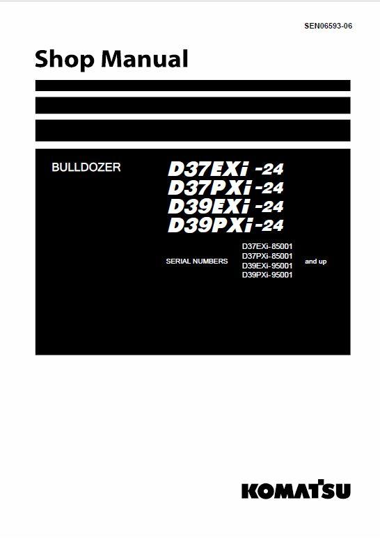 Komatsu D37EXi-24, D37PXi-24, D39EXi-24, D39PXi-24 Dozer Service Manual