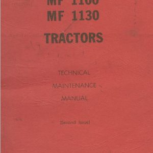 Massey Ferguson 1100, 1130 Tractor Service Manual