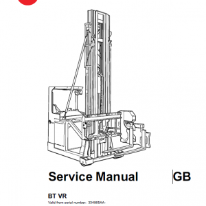 BT VR Vector Truck Repair Service Manual