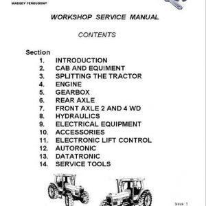 Massey Ferguson 3050, 3060, 3065, 3070, 3080 Tractor Service Manual