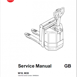 BT W18, W20 Pallet Truck Service Manual