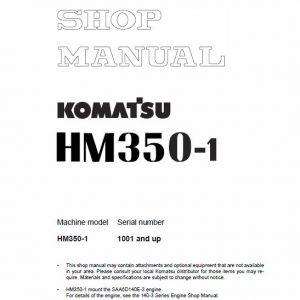 Komatsu HM350-1 Dump Truck Service Manual