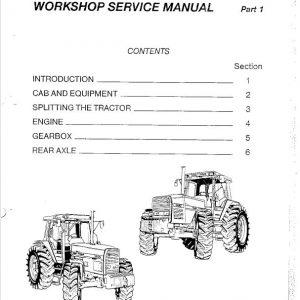 Massey Ferguson 3660, 3670, 3680, 3690 Tractor Service Manual