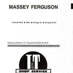 Massey Ferguson MF 85, MF 88, MF 90 Tractor Service Manual