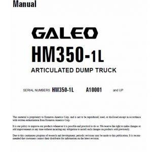 Komatsu HM350-1L Dump Truck Service Manual