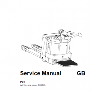 BT P20 Pallet Truck Repair Service Manual