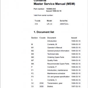 BT LR 2.0 Pallet Truck Service Manual
