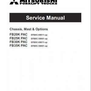 Mitsubishi FB20K PAC, FB25K PAC, FB30K PAC, FB35K PAC Forklift Manual