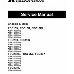 Mitsubishi FBC15K, FBC18K, FBC18KL Forklift Lift Truck Service Manual