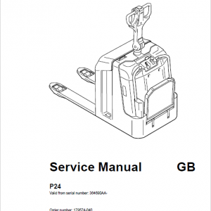 BT P24 Pallet Truck Repair Service Manual