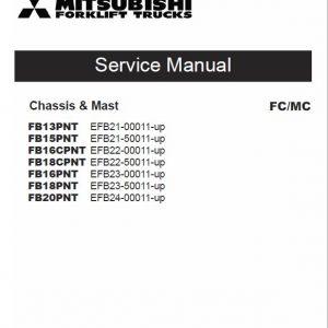 Mitsubishi FB18PNT, FB18CPNT, FB20PNT Forklift Service Manual