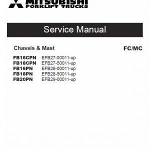 Mitsubishi FB16CPN, FB18CPN, FB16PN, FB18PN, FB20PN Forklift Service Manual