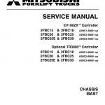 Mitsubishi 2FBC25, 2FBC25E, 2FBC30 Forklift Service Manual