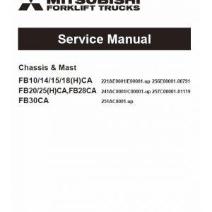 Mitsubishi FB10CA, FB10HCA, FB14CA, FB14HCA Forklift Service Manual