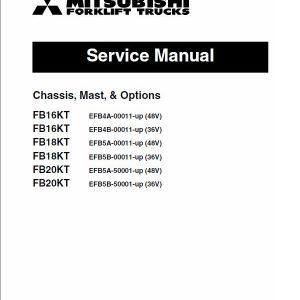 Mitsubishi FB16KT, FB18KT, FB20KT Forklift Lift Truck Service Manual