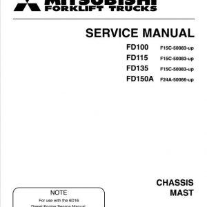 Mitsubishi FD100, FD115, FD135, FD150A Forklift Service Manual