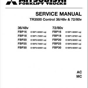 Mitsubishi FBP16, FBP18, FBP20, FBP25, FBP30 Forklift Service Manual