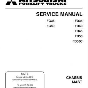 Mitsubishi FD35, FD40, FD45, FD50, FD50C Forklift Service Manual