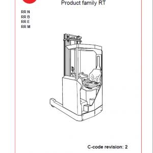 BT RR N, RR B, RR E, RR M Forklift Truck Service Manual