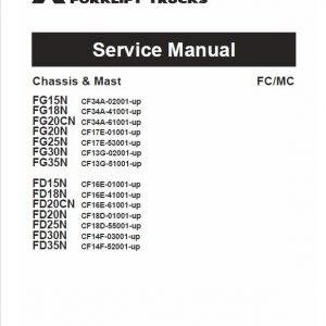 Mitsubishi FG15N, FG18N, FG20N, FG20CN Forklift Service Manual