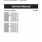 Mitsubishi FD15N, FD18N, FD20N, FD20CN Forklift Service Manual