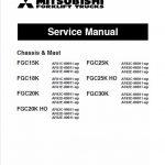 Mitsubishi FGC25K, FGC25K HO, FGC30K Forklift Service Manual