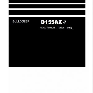 Komatsu D155AX-7 Dozer Service Manual