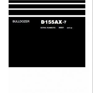 Komatsu DX155AX-7 Dozer Service Manual