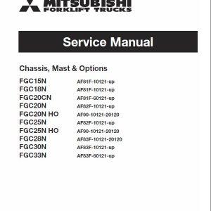 Mitsubishi FGC25N, FGC25N HO, FGC28N, FGC30N, FGC33N Forklift Service Manual