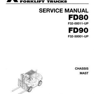 Mitsubishi FD80, FD90 Forklift Lift Truck Service Manual