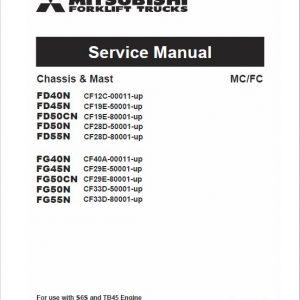 Mitsubishi FG40N, FG45N, FG50CN, FG50N, FG55N Forklift Service Manual